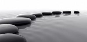 Piedras sobre el agua